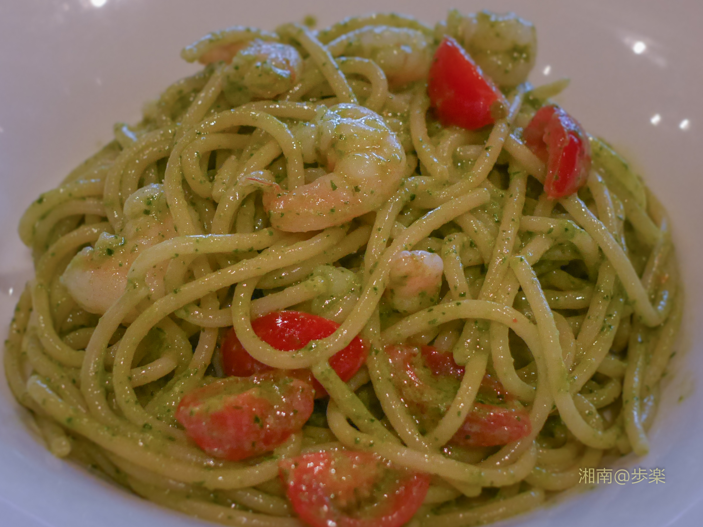 Baby Shrimp with Genovese Sauce