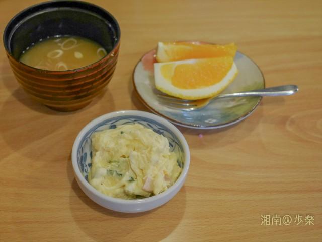 葱入りの味噌汁