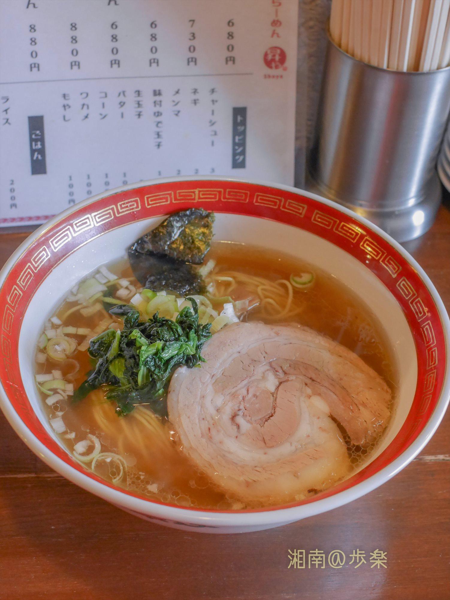 鶏鰹出汁のダブルスープ 薄口醤油の塩分がアクセント
