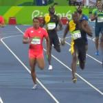 100m走のファイナリストが誰も存在しないチームでの堂々たるレース