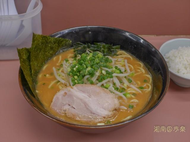 ランチA(味噌ラーメン+半ライス)麺大盛@650