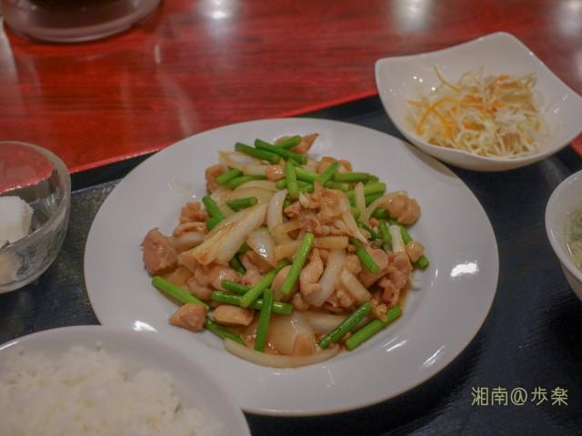 鶏と大蒜の芽炒め