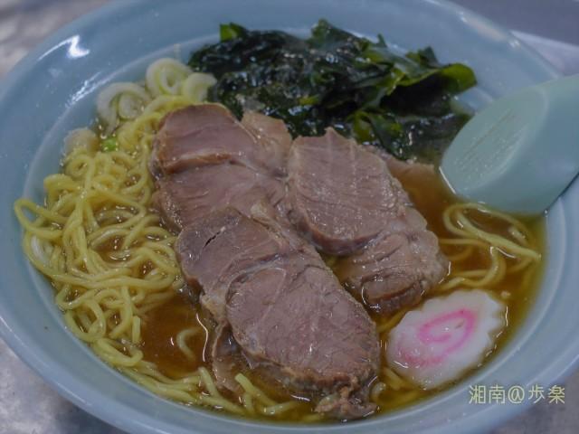醤油のカエシが強めの鶏出汁中華スープ